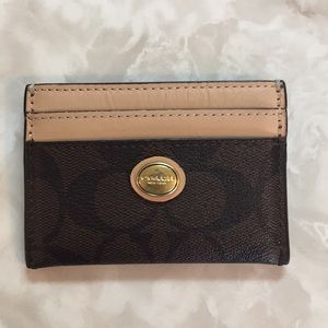 Coach slim card leather wallet